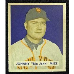 1949 BOWMAN #85B  JOHNNY MIZE  NOF  NM