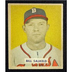 1949 BOWMAN #88B  BILL SALKELD  NOF  ROOKIE  EX-MT+