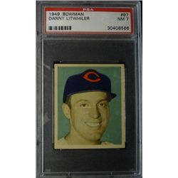 1949 BOWMAN #97  DANNY LITWHILER   PSA  NM7  ROOKIE