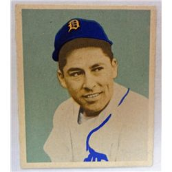 1949 BOWMAN #107  EDDIE LAKE  NM  ROOKIE