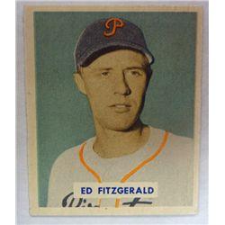 1949 BOWMAN #109A  ED FITZGERALD  NM  SCRIPT NAME
