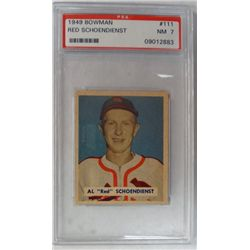 1949 BOWMAN #111  RED SCHOENDIENST  PSA  NM7