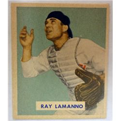 1949 BOWMAN #113  RAY LAMANNO  NM  ROOKIE