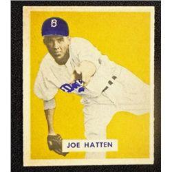 1949 BOWMAN #116  JOE HATTEN  NM  ROOKIE