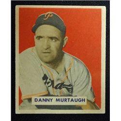 1949 BOWMAN #124B  DANNY MURTAUGH  PRINTED EM  ROOKIE