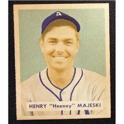1949 BOWMAN #127B  HENRY (Heeney) MAJESKI  NM  PRINTED  ROOKIE