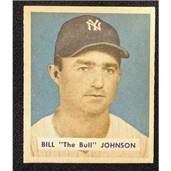 1949 BOWMAN #129  BILL (The Bull) JOHNSON  NM+