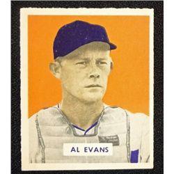 1949 BOWMAN  #132A  AL EVANS  NM+  SCRIPT  ROOKIE