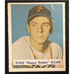 1949 BOWMAN #135  STAN (Happy Rabbit) ROJEK  NM  ROOKIE