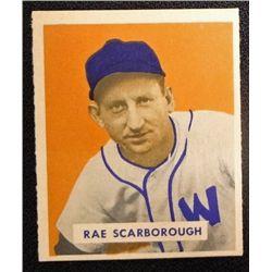 1949 BOWMAN #140  RAE SCARBOROUGH  NM  ROOKIE