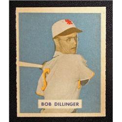1949 BOWMAN #143B  BOB DILLINGER  NM  PRINT  ROOKIE