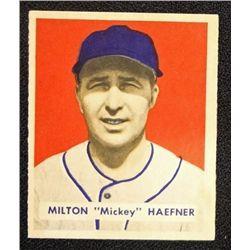 1949 BOWMAN #144 MILTON HAEFNER  NM  ROOKIE