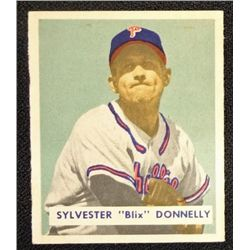 1949 BOWMAN #145  SYLVESTER DONNELLY  NM  ROOKIE