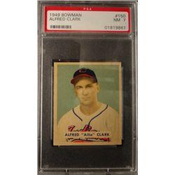 1949 BOWMAN #150  ALFRED (Allie) CLARK  PSA  NM7  ROOKIE