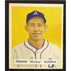 1949 BOWMAN #155  FERMIN GUERRA  EM   ROOKIE