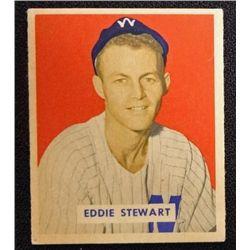 1949 BOWMAN  #173  EDDIE STEWART  EM+  ROOKIE