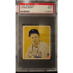 1949 BOWMAN #180  CONNIE BERRY  PSA NM7