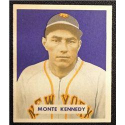 1949 BOWMAN #237  MONTE KENNEDY  NM  ROOKIE