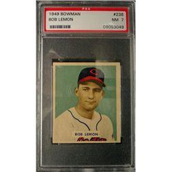 1949 BOWMAN #238  BOB LEMON  PSA NM 7  ROOKIE