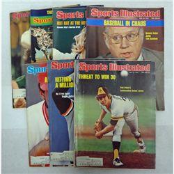 7 - 1974 &1976 BASEBALL SPORTS ILLUSTRATED MAGAZINES, R JACKSON, G BRETT.