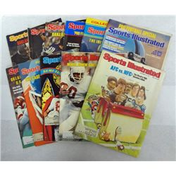 11 - (1977) SPORTS ILLUSTRATED MAGAZINES, E CAMPBELL, B SIMS, and many more.