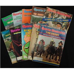 10 - SPORTS ILLUSTRATED MAGAZINES FEATURING HORSE RACING 1977, 1978, 1979, 1980