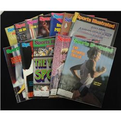 12 - SPORTS ILLUSTRATED MAGAZINES featuring OLYMPICS 1976, 77, 78, 79, & 1980