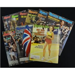 9 - SPORTS ILLUSTRATED MAGAZINES featuring TRACK & FIELD 1976, 77, 78, 79, &1980