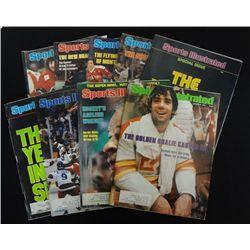 9 - SPORTS ILLUSTRATED MAGAZINES featuring HOCKEY.  1976, 77, 78, 79, & 1980.