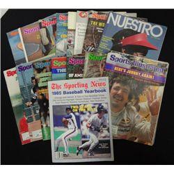 16 - MISC. SPORTS MAGAZINES & SPORTS ILLUSTRATED 1974, 1977, 78, 79, 80, & 1985