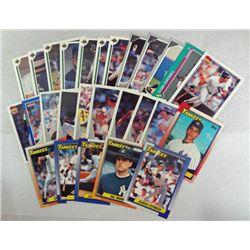 27-Different NEW YORK YANKEES BASEBALL CARDS 1990-91