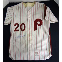 MIKE SCHMIDT GAME WORN JERSEY (TAGGED 1972)  AUTOGRAPHED