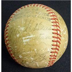 1954 BOSTON RED SOX TEAM AUTOGRAPHED BASEBALL