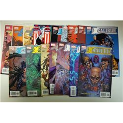 17-ExCALIBUR COMICS (Marvel PSR 1-14 & 12,13,14.com) 2004, 2005, 2007.