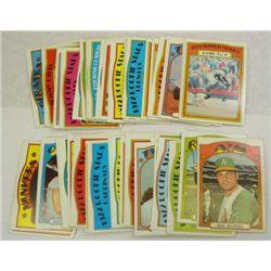 50-1972 Topps Baseball Lot-Stars & Team Cards