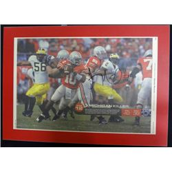 Ohio State Football Autographed Plaque Troy Smith