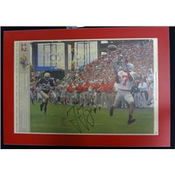 Ohio State Football Autographed Plaque Ted Ginn