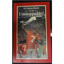 Ohio State Football Autographed Plaque Ted Ginn Jr