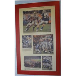 Ohio State Football Plaque, Action Shot from Columbus Dispatch