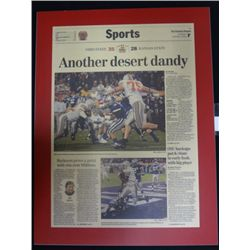 Ohio State Football Plaque of Columbus Dispatch Sports Page