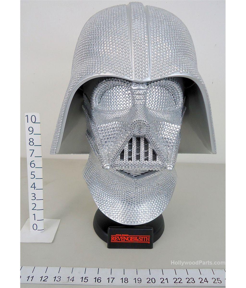 Star Wars Revenge Of The Sith Darth Vader Helmet Bedazzled Swarovski Crystal By Morpheus