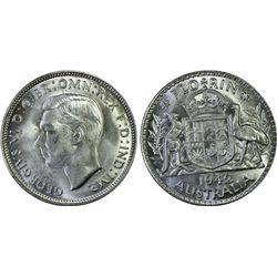 1943 & 1944 Melbourne Florins, PCGS MS62