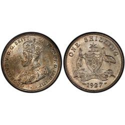 1927 Shilling PCGS MS63