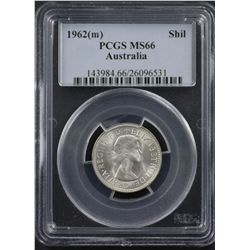 1962 Shilling PCGS MS66