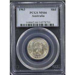 1963 Shilling PCGS MS66