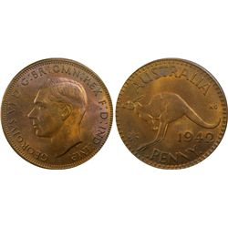 1942I Penny PCGS MS63 RB