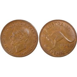 1948P Penny PCGS AU55