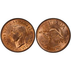 1949M Penny PCGS MS64 Red