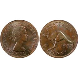 1953M Penny PCGS MS63 BN