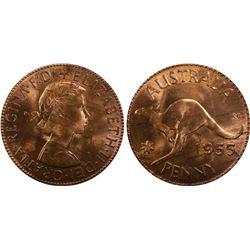 1955M Penny PCGS MS64 RB